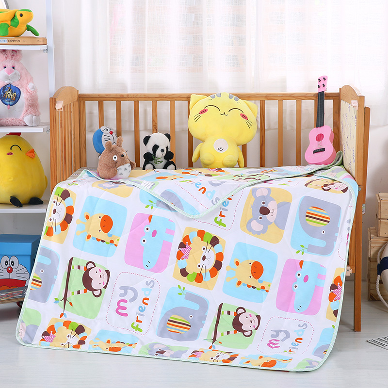 婴幼童夏被13372全棉包边款  动物相册