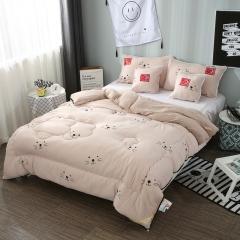 水洗棉系列-水洗棉保暖羽丝绒被(时尚卡通)