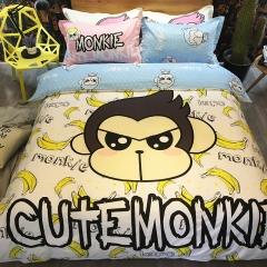 全棉Kapa猴四件套 200*230cm kapo-香蕉芭乐