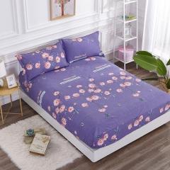 梧桐树- 全棉加厚磨毛单品 (床笠) 床笠 150*200cm 12卡曼 紫