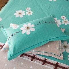 梧桐树- 全棉加厚磨毛单品 (枕套) 48cmX74cm/一对 3花样年华 蓝
