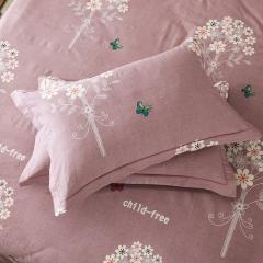 梧桐树- 全棉加厚磨毛单品 (枕套) 48cmX74cm/一对 5幸福捧花 咖