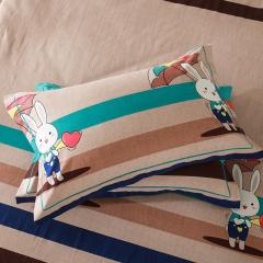 梧桐树- 全棉加厚磨毛单品 (枕套) 48cmX74cm/一对 15小兔乖乖
