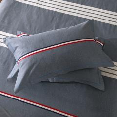 梧桐树- 全棉加厚磨毛单品 (枕套) 48cmX74cm/一对 22布鲁斯 灰