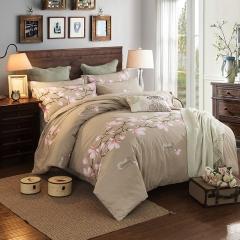 梧桐树-全棉加厚生态磨毛四件套 标准(1.5m-1.8m床) 6十里桃花