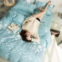 全棉活性生态磨毛四件套 1.8m(6英尺)床 寻梦-兰