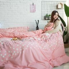 全棉活性生态磨毛四件套 1.8m(6英尺)床 寻梦-玉