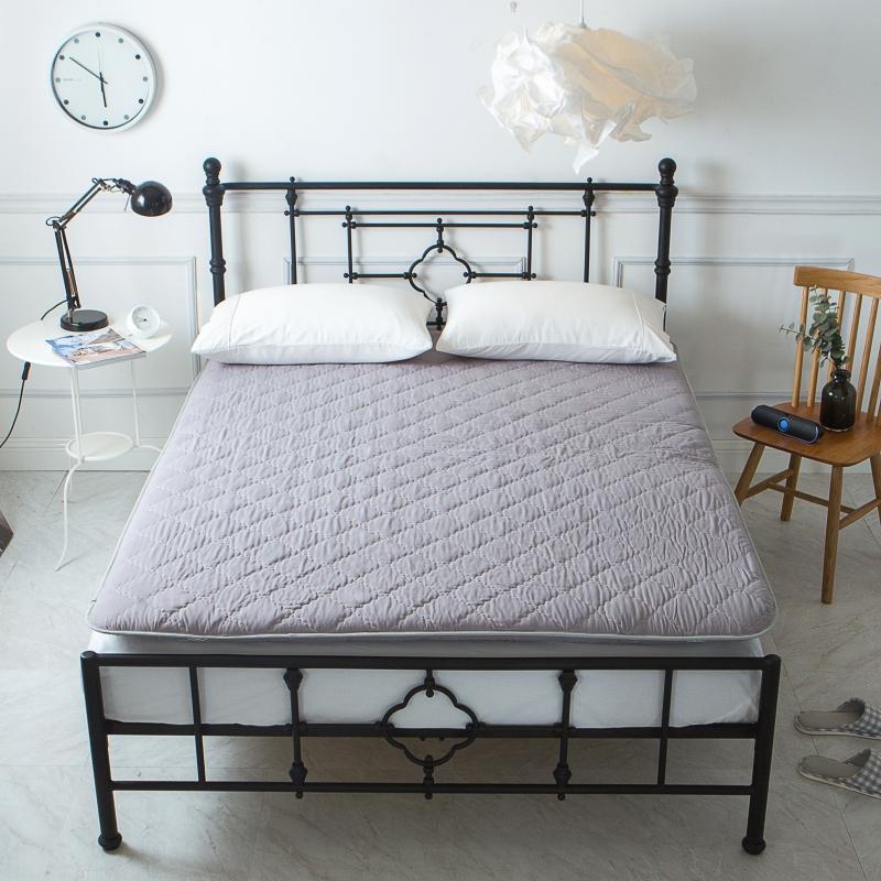 纯色加厚床垫 灰