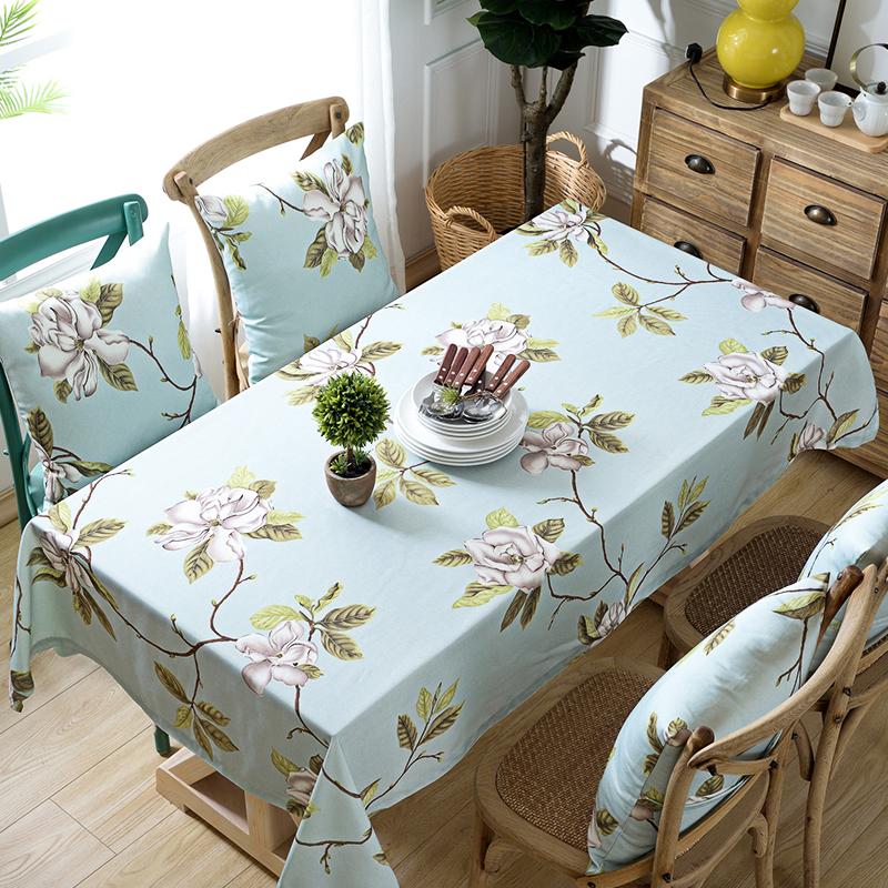 双面防水桌布布艺防烫防污餐桌布圆形长方形