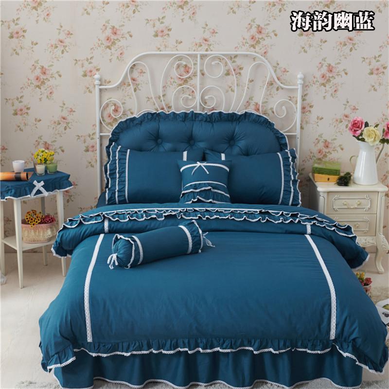 13372  韩版蕾丝床裙款 四件套