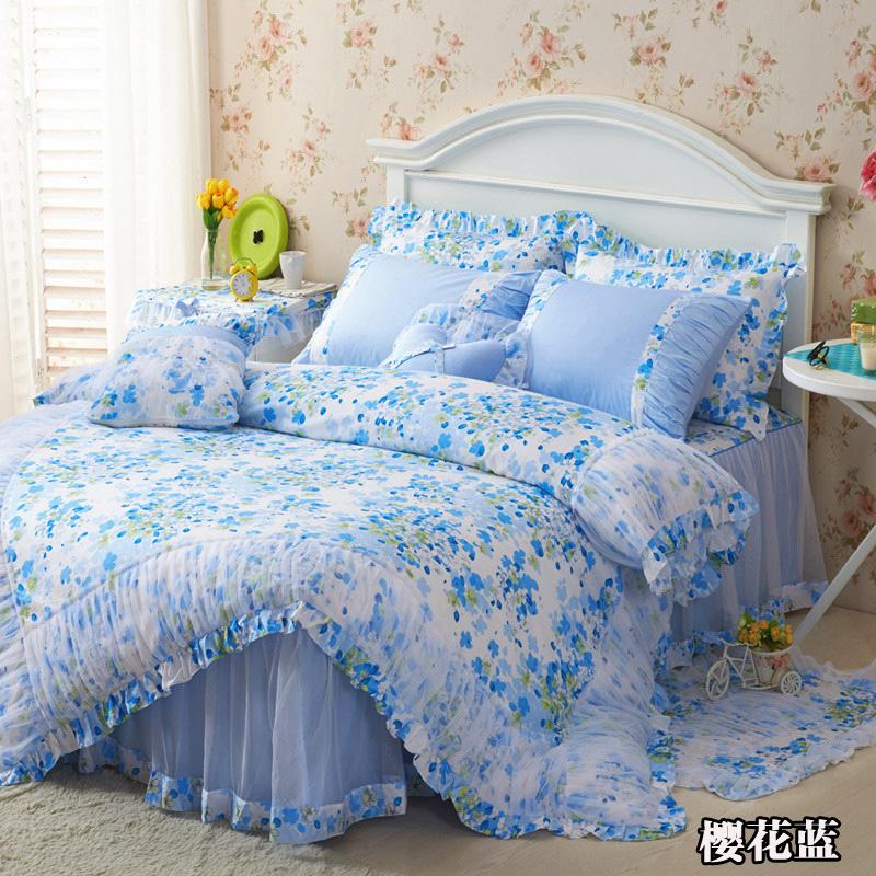 13372 韩版蕾丝 床裙款四件套