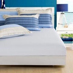 纯棉12868高密高织纯色单品 床笠 床笠:120cmx200cm 浅灰色