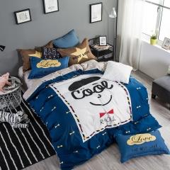 2017新品专版时尚宜家系列 1.2m(4英尺)床三件套 潮酷