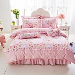 2017新品公主风韩版套件 1.5m(5英尺)床 爱的花园粉