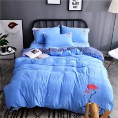 水洗棉全棉刺绣系列 小号三件套1.35m(4.5英尺)床 浓情丽人