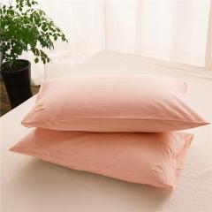 春皖全棉色织布标系列单枕套 48cmX74cm 黯香红