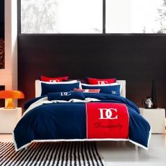 梦幻之城全棉阳绒贡缎磨毛四件套多件套简约休闲六件套 1.8m(6英尺)床 卡尔玛