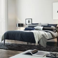 梦幻之城家纺欧式简约现代男士商务居家四件套六件套 1.5米床适用 德莱尼蓝