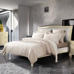 梦幻之城现代简约床上用品水洗真丝四件套六件套 1.8米床适用 列蒂西雅