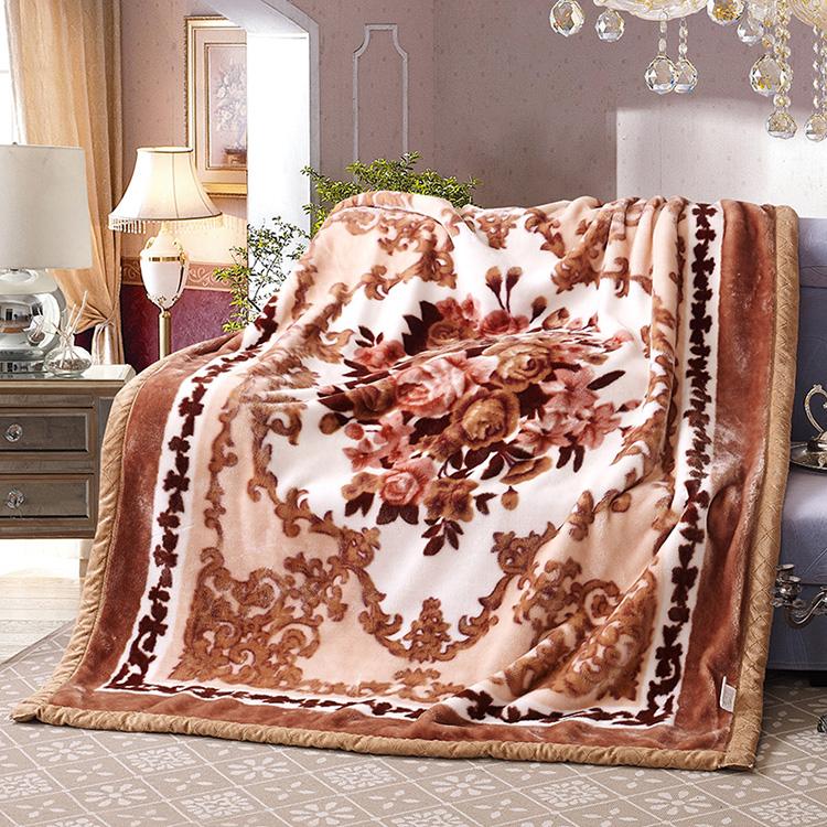 卡通拉舍尔毛毯双层加厚保暖毛巾被学生宿舍秋冬珊瑚绒盖毯1.5