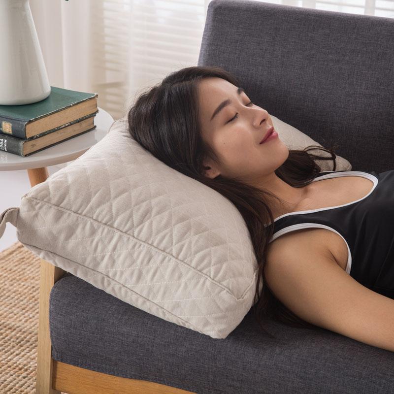彩棉弹簧枕